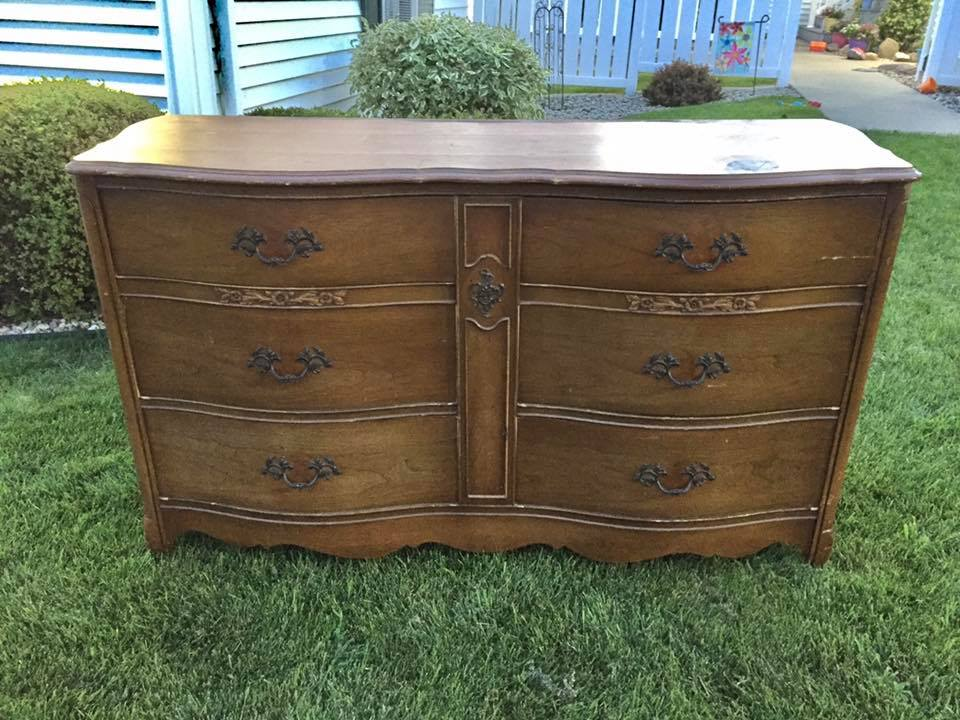 I Just Knew This Dresser Would Be A Beauty Before Even Put Drop Of Paint On It Was Solid Piece Furniture In Great Conditon