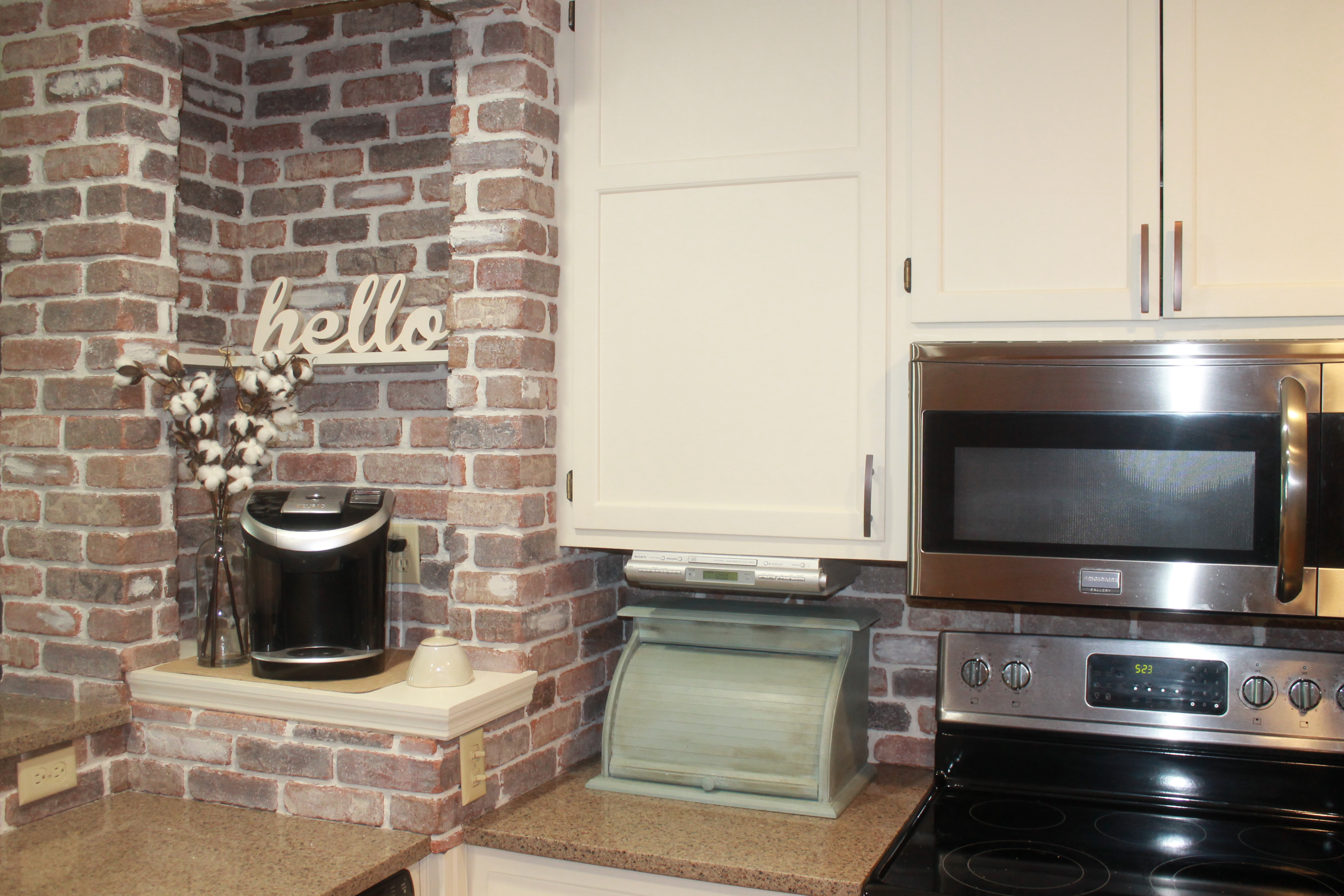 - DIY Farmhouse Brick Backsplash - Brushed Design Co.