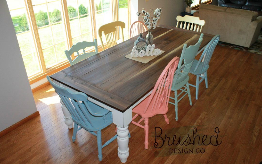Nice DIY Farmhouse Table And Chairs