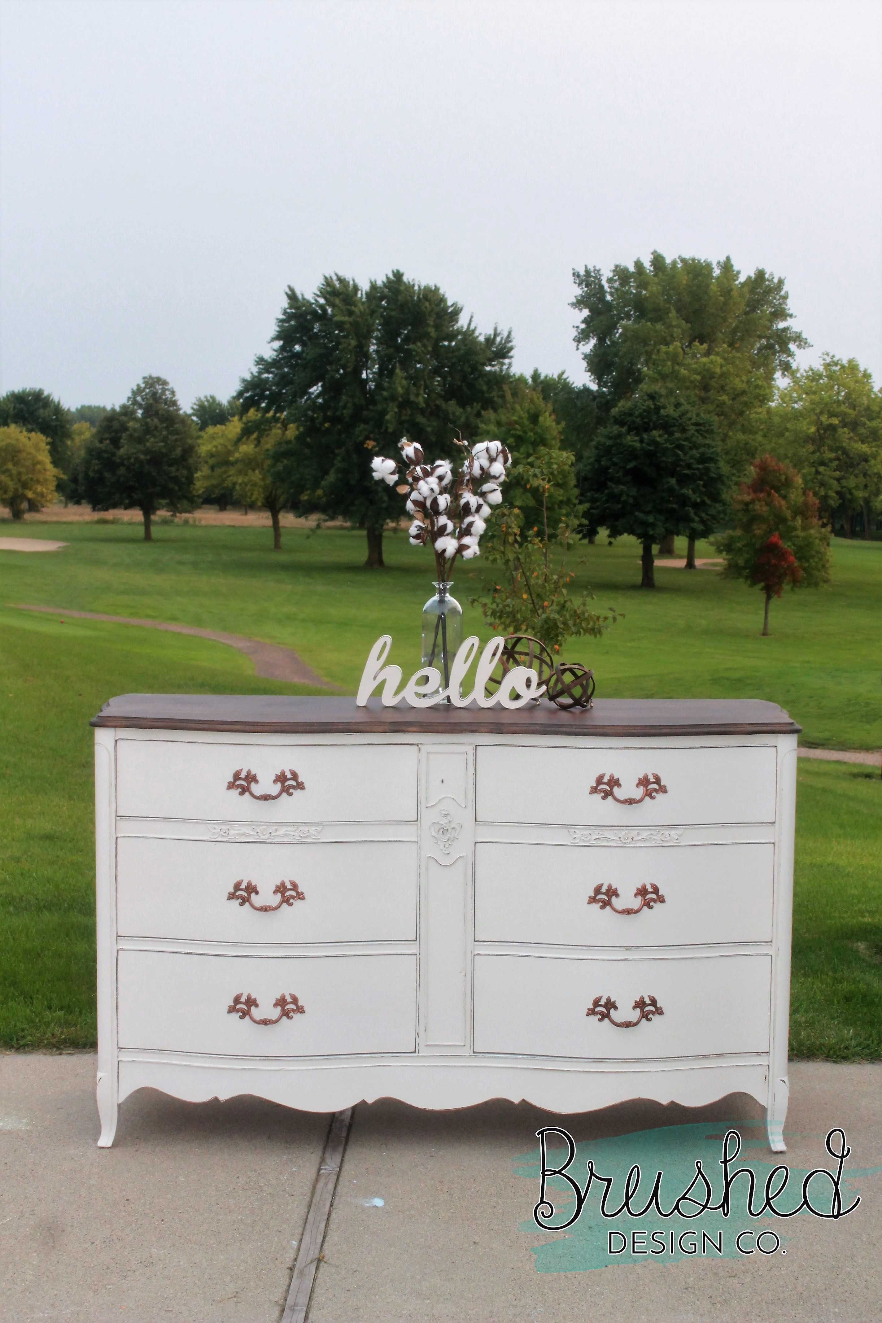 Painting A French Provincial Dresser