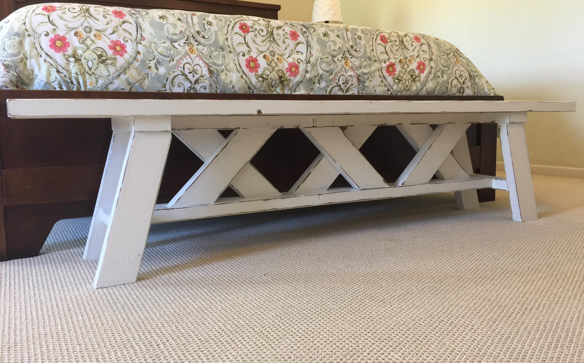 My FAVORITE Rustic DIY Bench Brushed Design Co