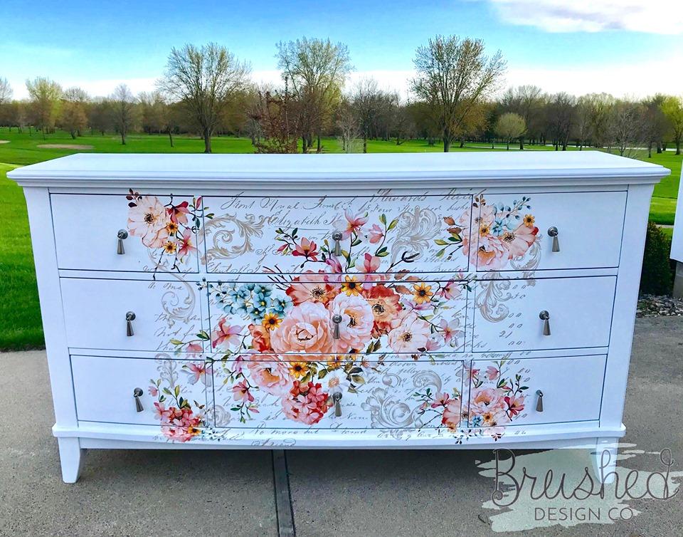 floral dresser cover