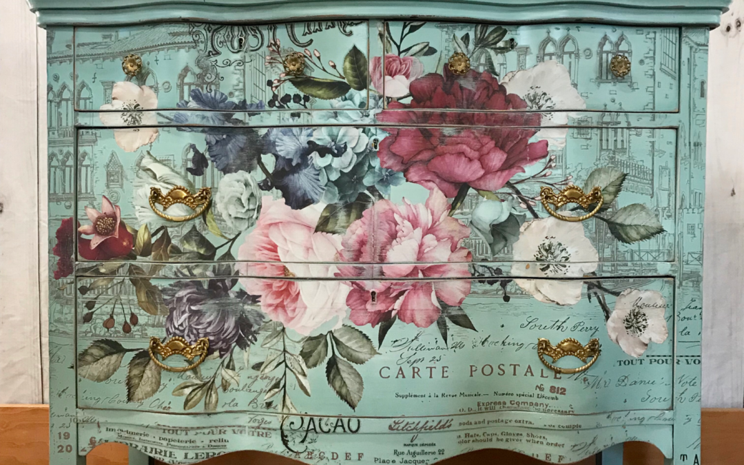 Beautiful Floral Dresser
