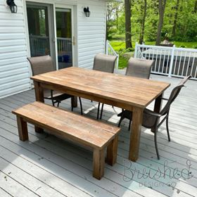 Farmhouse Patio Table and Bench